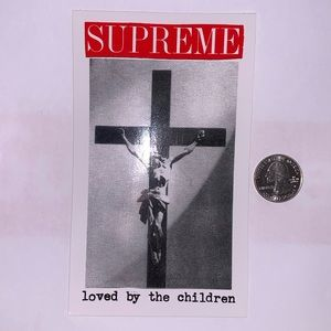 Supreme Loved By The Children (Jesus) sticker SS20